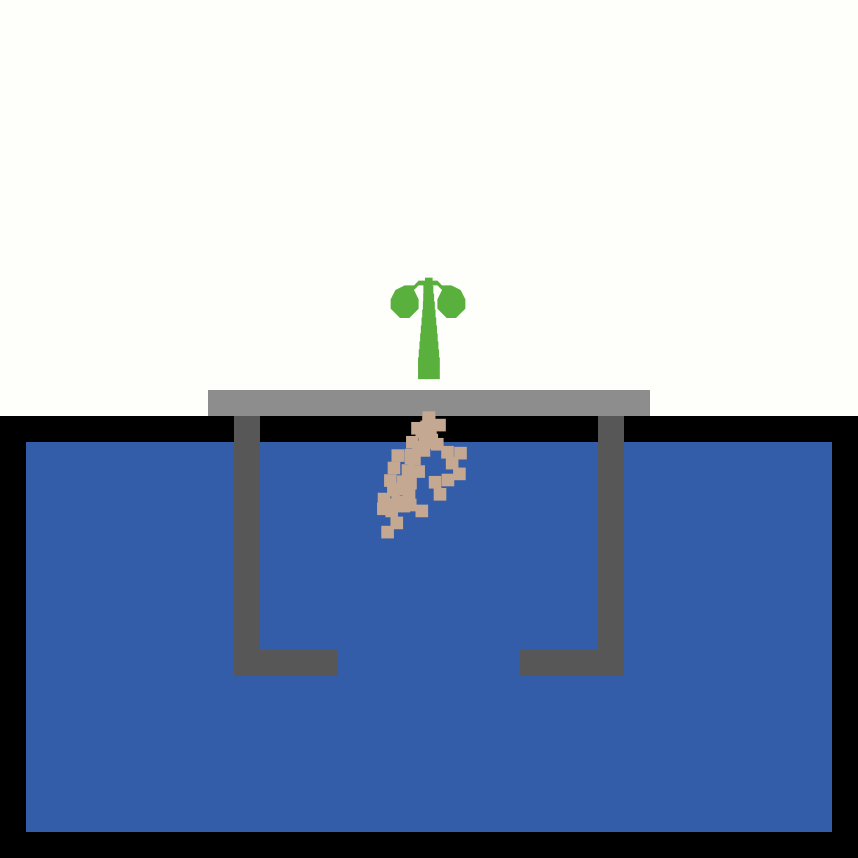 Visualization of hydroponic plant growth